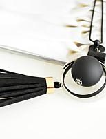 Жен. Ожерелья с подвесками Круглой формы Плюшевая ткань Бижутерия Назначение Для вечеринок День рождения Повседневные
