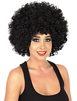 Fashion Black Color Wig For Black Women Afro Curly Synthetic Wigs For Halloween