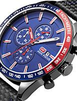 Hombre Reloj Deportivo Reloj de Moda Reloj de Pulsera Reloj creativo único Reloj Casual Cuarzo Calendario Cronógrafo Cronómetro Cuero