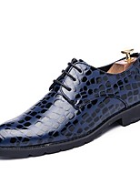 Men's Shoes Real Leather Leather PU Fall Winter Comfort Light Soles Driving Shoes Oxfords Lace-up For Casual Party & Evening Outdoor