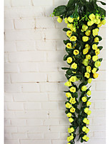 Artificial Rosebud Wall Hanging Rattan Antique Decorative Artificial Rose Vine