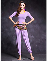 Belly Dance Outfits Women's Performance Modal 2 Pieces Half Sleeve Natural Tops / Pants