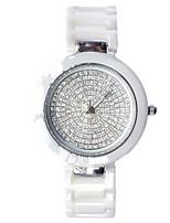 Жен. Модные часы Часы со стразами Кварцевый Керамика Группа Белый