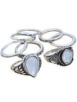 Жен. Кольца на вторую фалангу Классические кольца Базовый дизайн Простой стиль Сплав Бижутерия Назначение Свадьба Для вечеринок Обручение