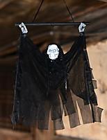 Хэллоуин индукции реквизит ястреб дом электрические украшения светящийся скелет подвесная голова маленькое копье