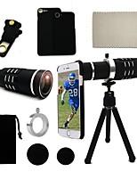 Lingwei 18x zoom samsung cámara teleobjetivo lente gran angular / trípode / titular del teléfono / caso duro / bolsa / paño de limpieza