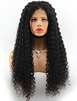 Brazilian Virgin Hair Deep Wave Glueless Lace Front Human Hair Wigs for Black Women Natural Black Color Middle Part Lace Wigs With Baby Hair