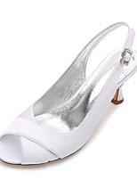 Mujer Zapatos de boda Confort Pump Básico Satén Primavera Verano Boda Vestido Fiesta y Noche Pedrería Purpurina CombinaciónTacón Bajo