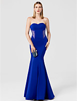 Mermaid / Trumpet Sweetheart Floor Length Spandex Formal Evening Dress with Crystal Detailing by TS Couture®