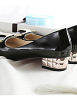 Women's Shoes PU Spring Fall Comfort Heels For Casual White Black Beige