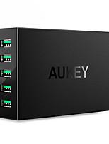 Chargeur USB 5 Ports Station de chargeur de bureau Avec identification intelligente Prise UE Adaptateur de charge