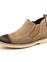 Men's Boots Comfort Fall Winter Real Leather Suede Casual Office & Career Gore Flat Heel Brown Gray Black Flat