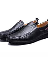 Men's Sneakers Light Soles Spring Fall Nappa Leather Casual Flat Heel Black Brown Dark Brown Flat