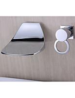 Style moderne Diffusion large Jet pluie Montage mural with  Soupape céramique Mitigeur deux trous for  Chrome , Robinet lavabo
