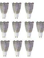 6W Spot LED MR16 1 COB 480 lm Blanc Chaud Blanc Intensité Réglable 110-120 V 10 pièces GU10