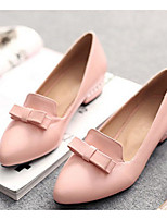 Women's Shoes PU Summer Comfort Heels For Casual White Yellow Red Blushing Pink Orange/Black