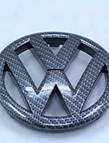 Emblema automotriz vw gti / r20 fibra de carbono