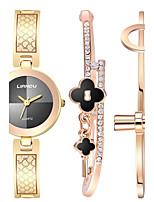 Жен. Наручные часы Часы-браслет Кварцевый Нержавеющая сталь Группа Креатив Элегантные часы Золотистый Розовое золото