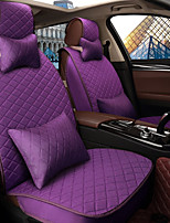Car Seat Cushion Seat Cover Seat Four Seasons General Flax Surrounded By A Five Seat Family Car To Send 2 Head 2 Waist Purple