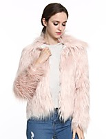 Women's Fashion Wrap Shrugs Faux Fur Wedding / Party/ Evening / Casual Long Sleeve Fur Coats/Jacket