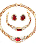 Women's Necklace Fashion Classic Rhinestone Gold Plated For Wedding Party Birthday Engagement Gift Wedding Gifts