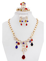 Women's Necklace Fashion Rhinestone Gold Plated For Wedding Party Engagement Gift Ceremony Wedding Gifts