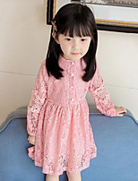 Girl's Casual/Daily Solid Dress,Rayon Spring Fall Long Sleeve