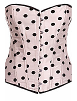 LuckyOne Women's Overbust Corset NightwearSexy Push-Up Polka Dot-Thick