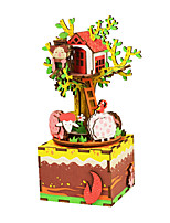 Jigsaw Puzzles DIY KIT Jigsaw Puzzle Wooden Puzzles Building Blocks DIY Toys Phonograph Cartoon Wooden Composite