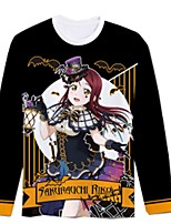 Inspired by Love Live Cosplay Anime Cosplay Costumes Cosplay T-shirt Cartoon Long Sleeve Top For Unisex