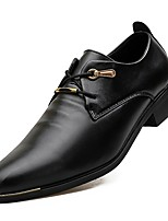 Men's Oxfords Formal Shoes Comfort Real Leather PU Leather Spring Fall Casual Office & Career Flat Heel Black Flat