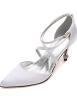 Women's Wedding Shoes Comfort D'Orsay & Two-Piece Basic Pump Spring Summer Satin Wedding Dress Party & Evening Rhinestone Sparkling