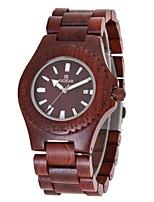 Жен. Часы Дерево Японский Кварцевый деревянный Дерево Группа С подвесками Люкс Элегантные часы Красный Коричневый