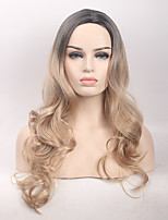 High Quality  Middle Long Wave Black To Blonde Color Wig Fashion Sexy Women Wig Natural Hair Synthetic Wigs