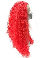 жен. Парики из искусственных волос Лента спереди Длиный Кудрявые Красный Парик в афро-американском стиле Парики для косплей Парик из