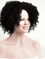 Black Short Synthetic Kinky Curly Hair Wig Heat Resistant Synthetic  Afro Women Wig