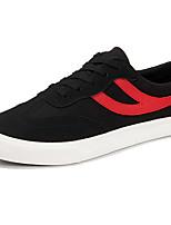 Для мужчин Кеды Удобная обувь Замша Весна Лето Повседневные Шнуровка На плоской подошве Белый Черный На плоской подошве