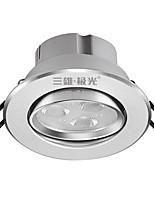 1Pcs 3W Recessed LED Spot Light Celing Light Warm White AC220V Size Hole 75mm