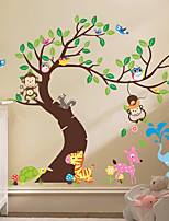 Animales Caricatura Florales Pegatinas de pared Calcomanías de Aviones para Pared Calcomanías Decorativas de Pared MaterialDecoración