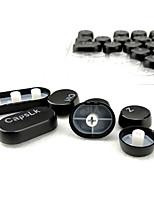 104 clavettes set de touches à cristaux liquides à vapeur punk round transparent pour clavier mécanique