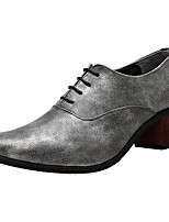 Masculino Oxfords Sapatos formais Couro Envernizado Primavera Verão Outono Inverno Casual Festas & Noite Preto Prata Azul 2,5 a 4,5 cm