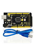 1pcs keyestudio mega 2560 r3 1pcs cable usb para arduino mega 2560 r3 / avr
