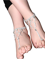Women's Anklet/Bracelet Pink Pearl Floral Drop Jewelry For Wedding Engagement Going out Club Street
