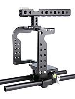 Yelangu soporte dslr profesional de apoyo de aluminio de la cámara jaula c7 portátiles dv titular de gh5