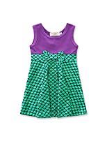 Girl's Patchwork Dress,Cotton Polyester Summer Sleeveless