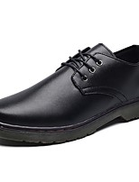 Men's Shoes PU Spring Fall Comfort Oxfords Lace-up For Casual Black