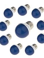 3W Lâmpada Redonda LED G45 6 SMD 2835 / lm Vermelho Azul Amarelo Verde Decorativa 220 V 10 pçs E27