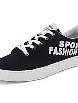 Men's Sneakers Comfort Spring Fall Rubber Outdoor Tassel Flat Heel White Black Blue Under 1in