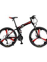 Bicicleta de Montaña Ciclismo 27 Velocidad 26 pulgadas/700CC Microshift 24 Disco de Freno Horquilla de suspención Cuadro de Acero CarbónA