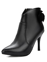 Women's Boots Fashion Boots Winter Leatherette Dress Party & Evening Applique Zipper Stiletto Heel Black 4in-4 3/4in